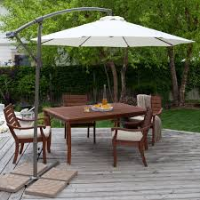 Patio Umbrella Side Table by Patio Ideas Large Cantilever Patio Umbrella With Wooden Deck