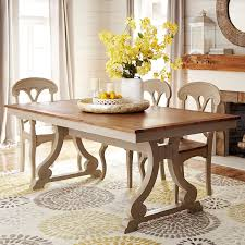 Build Your Own Marchella Linen Gray Extension Dining Table - Pier one dining room sets