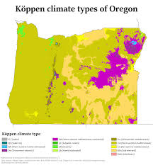 Oregon Map by Climate Of Oregon Wikipedia
