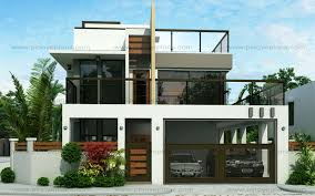Philippine House Designs And Floor Plans For Small Houses Ester Four Bedroom Two Story Modern House Design Pinoy Eplans