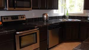 backsplash for dark cabinets gray kitchen cabinet with yellow