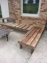 bench great amazing wood patio intended for home decor outside
