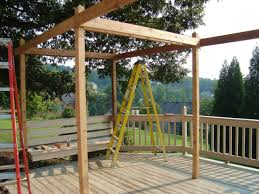 Outdoor Patio With Roof by How To Build A Backyard Pergola Hgtv