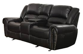 Leather Sofas At Dfs by Amazon Com Homelegance 9668blk 2 Double Glider Reclining Loveseat