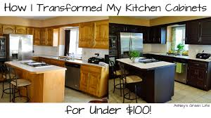 Kitchen Cabinet Colors 2014 by Ashley U0027s Green Life How I Transformed My Kitchen Cabinets For