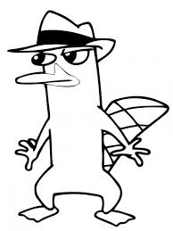 perry the platypus coloring pages getcoloringpages com