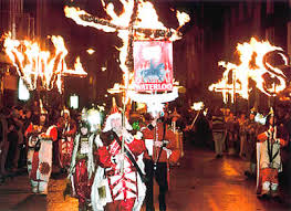 The annual bonfire parade in Lewes