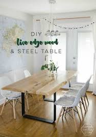 Rustic Modern Dining Room Tables by Organic Modern Rustic Dining Table With Hairpin By Metalmeetswood