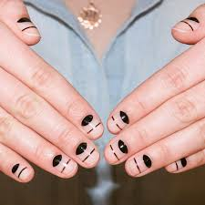 the cool negative space nail art you can do in seconds allure