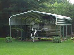 Canopy Carports Pontoon Boat Metal Carport Awning Cover Metal Boat Covers