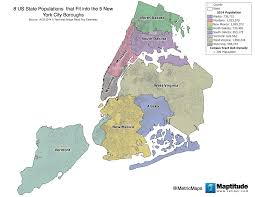Zip Code Map Brooklyn by This Map Shows Eight U S State Populations That Fit Nicely Into