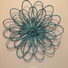 turquoise metal wall art takuice com