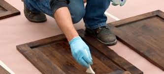 Stain Unfinished Kitchen Cabinets by How To Stain Unfinished Bathroom Cabinets Doityourself Com