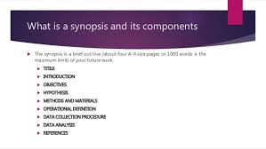 How to write your synopsis