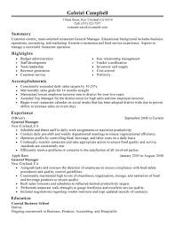 Resume Examples For Food Service by Best Restaurant Bar General Manager Resume Example Livecareer