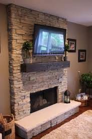 stacked stone fireplace designs decorating large stacked stone