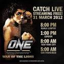 ONE FC - March 31, Livestreaming is Free on youtube.com/onefcmma ...