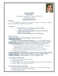 Sample Resume Pharmacy Technician by Pharmacy Technicians Resume Samples