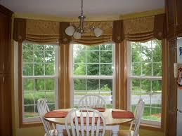 window treatments for bay windows in kitchen kitchen bay window