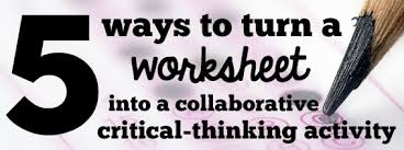 Critical Thinking     The Comprehensible Classroom