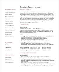 Resume Format For Teachers Job by Teacher Resume Examples 23 Free Word Pdf Documents Download