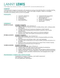 live resume builder best caregivers companions resume example livecareer resume tips for caregivers companions
