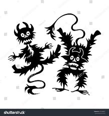 halloween vector art cartoon little devil imp halloween vector stock vector 425506897