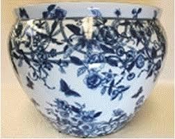 porcelain by style porcelain planters fishbowl porcelain