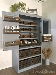 Simple Free Standing Shelf Plans by Ana White Free Standing Pantry With Crate Storage Featuring