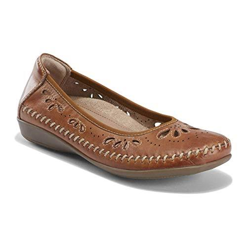 Earth Alder Azza Perforated Ballet Flat, Adult,