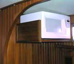 diy low ceiling wood wall mounted white micorave shelf storage for