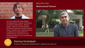 infosys prize 2016 in mathematical sciences awarded to prof