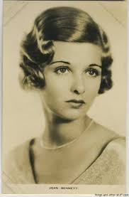 Joan Bennett Gallery of Vintage Movie Cards - 1930s-film-weekly-pc-joan-bennett