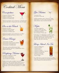 cocktail menu table plan idea bryk bar karte pinterest table