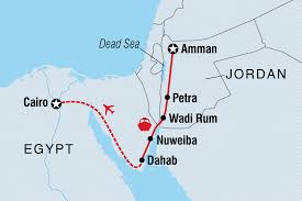 Jordan Country Map Jordan U0026 Egypt Express Egypt Tours Intrepid Travel Us