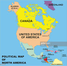 Political Map Of United States And Canada by Political Map Of North America In Vector Format Vector Art Getty