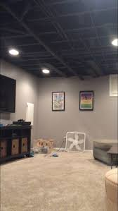 Black Ceiling Basement by Best 20 Unfinished Basement Ceiling Ideas On Pinterest