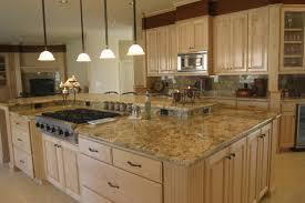 bathroom elegant kitchen island with black granite countertops