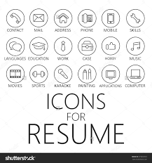 Junior Accountant Resume Sample by Thin Line Icons Pack For Cv Resume Job Cvicon Pinterest