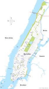 Central Park New York Map by Map Of Manhattan New York City Map