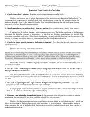 pages Essay   Peer Review Worksheet doc Georgia Archery Association