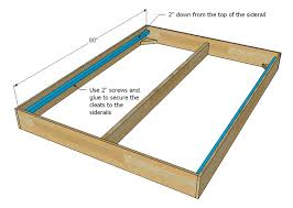 Plans For Wooden Platform Bed by Ana White Much More Than A Chunky Leg Bed Frame Diy Projects