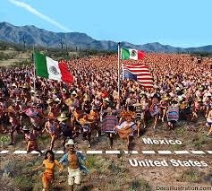 As of today, here`s a quick look at our border, (illegal