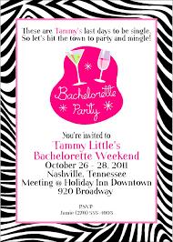 Invitation Cards Sample Format Zebra Print Bachelorette Party Invitation Card Sample Emuroom