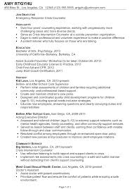 Chemist Resume Samples by Sample Counselor Resume Jennywasherecom Rehab Counselor