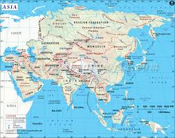 Pictures Of World Map by Asia Map With Countries Map Of Asia Continent Clickable To Asian