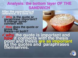 Quote Sandwiches and Paraphrases Paninis for Synthesis Essays and Res