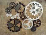 Gears Art Industrial Steampunk Wall Decor Made by DarkHorseGarage