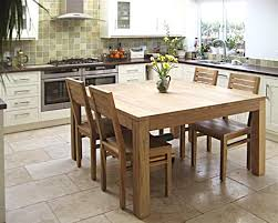 Chairs For Kitchen Table by Square Teak Table With Modern Low Back Chairs Perfect For This