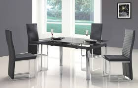 Modern Kitchen Chairs Leather Chair Glass Kitchen Table Sets Rectangular Roselawnlutheran Dining